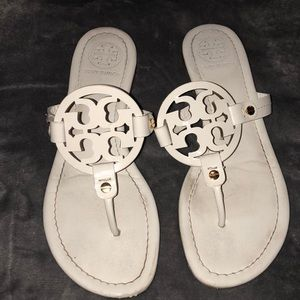 Authentic Tory Burch flip flops.